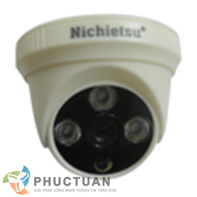 Camera AHD dome vỏ nhựa trong nhà quan sát ngày đêm - Chip 1/4 OV9712 sensor, độ nhạy sáng: 0.00 Lux (IR on) - Độ phân giải 1.0 Megapixel (1280 x 720 @30fps)  - Khả năng mở rộng chức năng menu điều chỉnh BLC, HSBLC, D-WDR, màu sắc, độ nét, lọc nhiễu 2D/3D DNR - Ống kính 2 Megapixel: 3.6mm (6, 8mm). Nguồn 12V DC - 3 led ray, khoảng cách hồng ngoại 20m