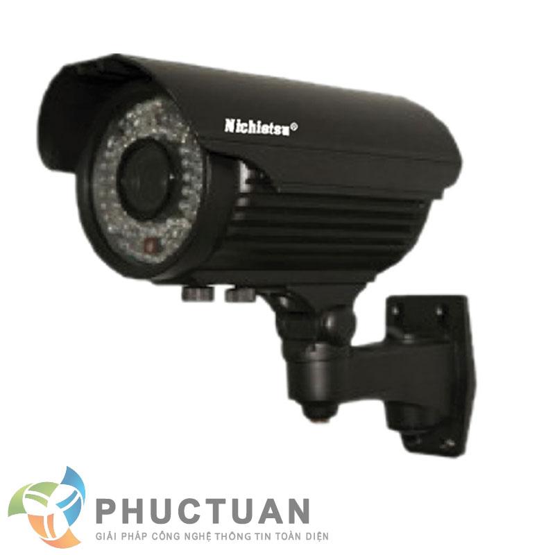 Camera Nichietsu-HD NC-172Z/A1M Camera AHD thân vỏ kim loại quan sát ngày đêm trong nhà và ngoài trời - Chip 1/4 OV9712 sensor, độ nhạy sáng: 0.00 Lux (IR on) - Độ phân giải 1.0 Megapixel (1280 x 720 @30fps)  - Khả năng mở rộng chức năng menu điều chỉnh BLC, HSBLC, D-WDR, màu sắc, độ nét, lọc nhiễu 2D/3D DNR - Ống kính 2 Megapixel : 2.8-12 mm - 72 đèn led, khoảng cách hồng ngoại 35m - Chuẩn IP65: chống bám bụi, mưa nắng, chống đập phá