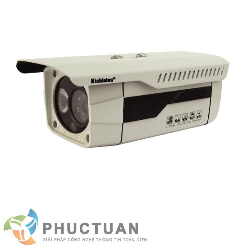 Camera Nichietsu-HD NC-130A1.3 M Camera AHD thân vỏ kim loại quan sát ngày đêm trong nhà và ngoài trời - Chip 1/3 Sony Exmor sensor, độ nhạy sáng: 0.00 Lux (IR on) - Độ phân giải 1.3 Megapixel HD (1280 x 960 @30fps) - Khả năng mở rộng chức năng menu điều chỉnh BLC, HSBLC, D-WDR, màu sắc, độ nét, lọc nhiễu 2D/3D DNR - Ống kính 2 Megapixel: 4mm - 1 Led ray, khoảng cách hồng ngoại 20m - Chuẩn IP65: chống bám bụi, mưa nắng, chống đập phá