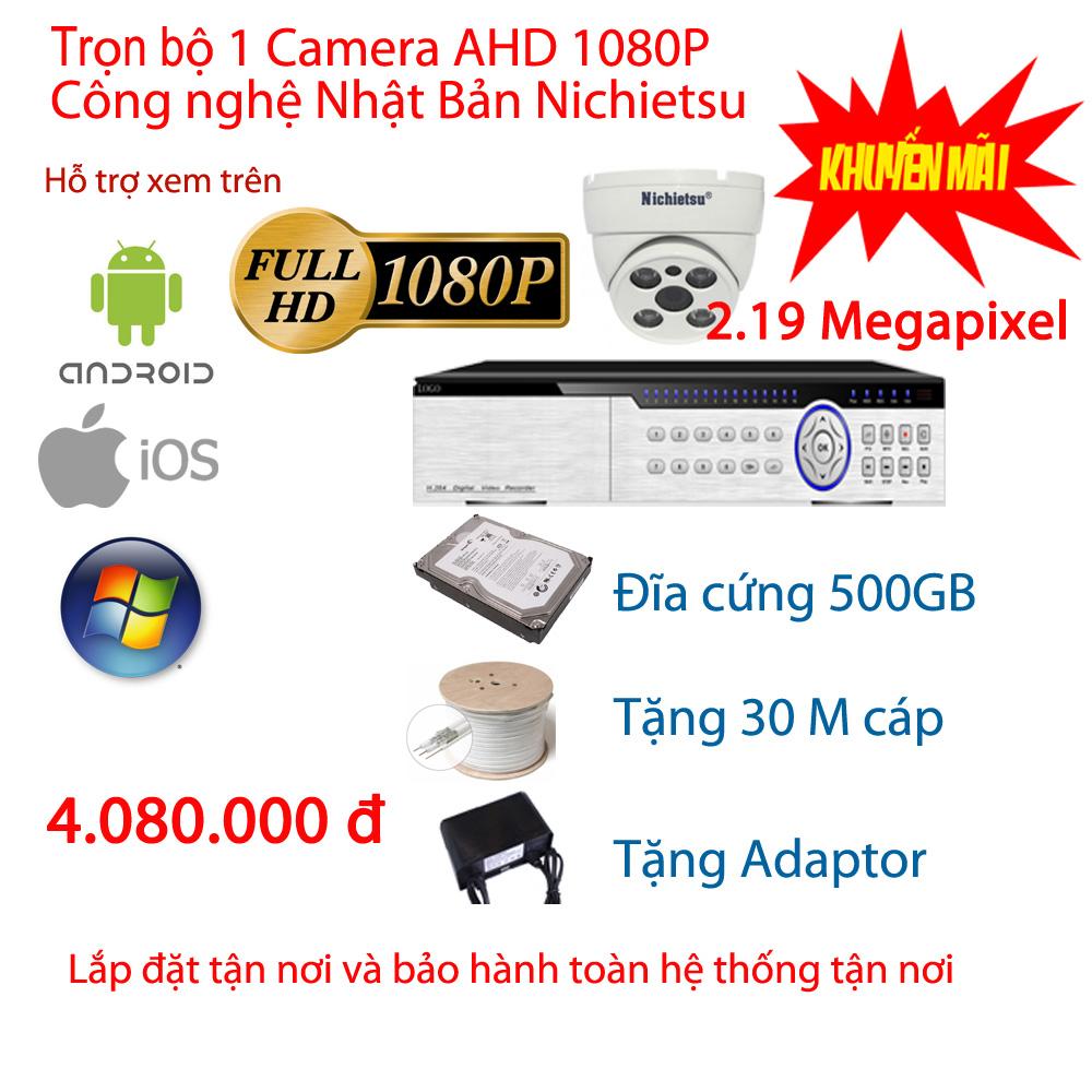 Bộ 1 camera Nichietsu  HD 1080P